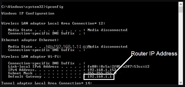 Find Router IP Address on Windows